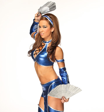 AJ Lee Kitana WWE AJ Lee as Mortal Kombats Kitana = Awesome