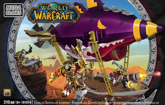 Mega Bloks goblin zeppelin Blizzard and Mega Bloks Reveal Toy Info and Images