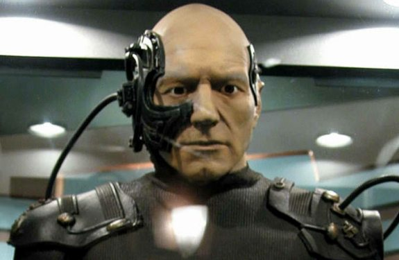 Picard Borg Google Glass: Borg Implant or Dragon Ball Z Scouter?