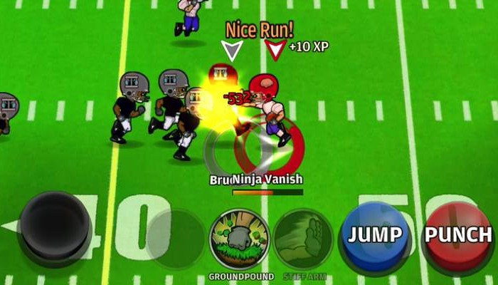 Football Heroes = Tecmo Bowl + Beat 'Em Up + RPG
