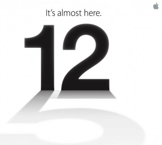 "Apple Invite Teases iPhone ""5″ on September 12"