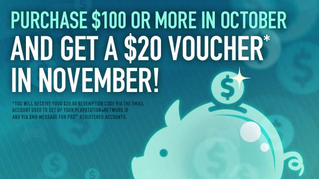 Spend $100 on PlayStation Network, Get $20 Voucher