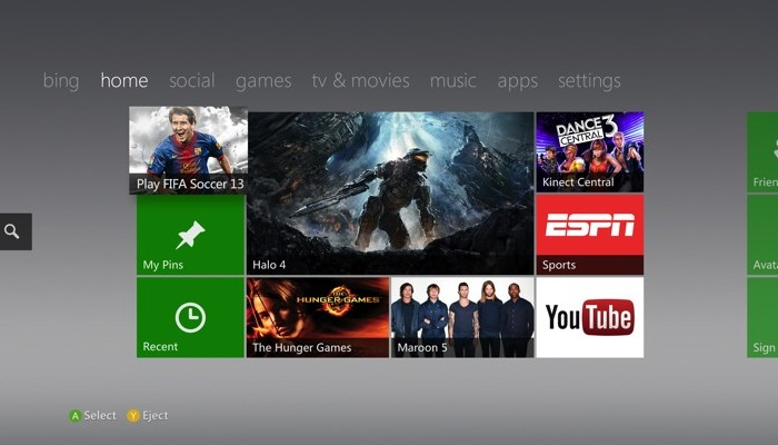 Xbox 360 Fall 2012 Dashboard Update Available