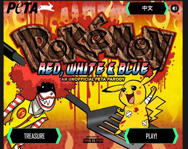 PETA Still Hates Nintendo: Pokemon Red, White, & Blue